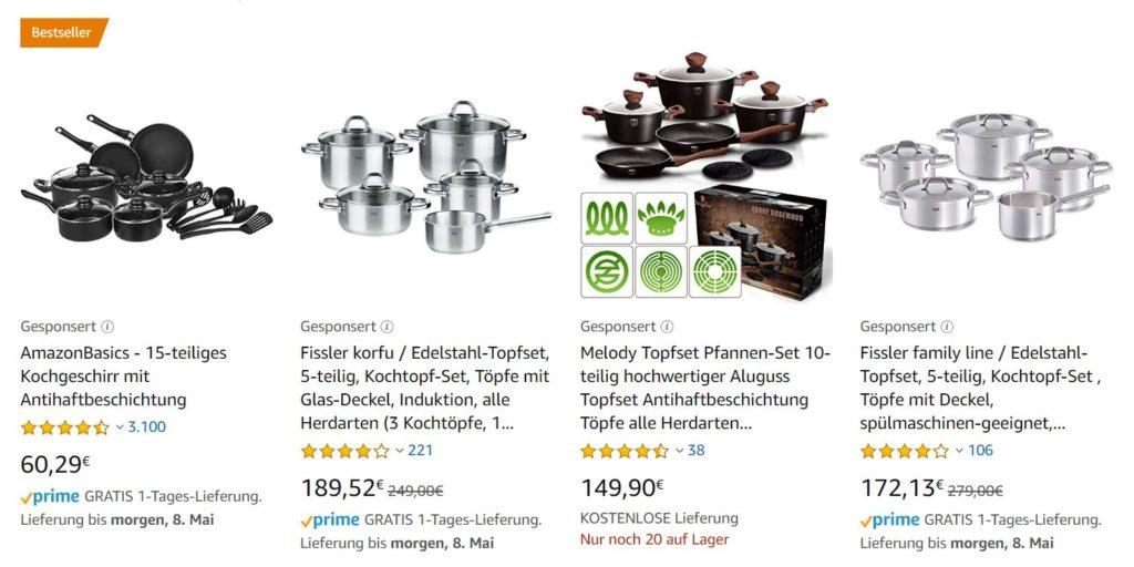 Gesponserte Produkte auf Amazon