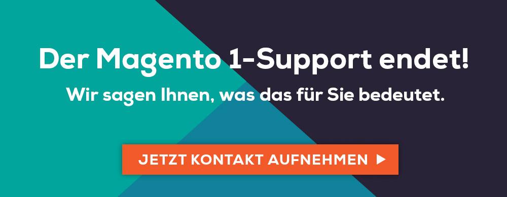 Magento 1 Support läuft aus