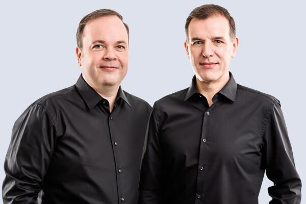 Geschaeftsfuehrung Christoph Schoene und Herbert Buchhorn